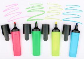Maneiras de utilizar e os tipos de caneta marca-texto
